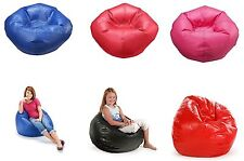 """96"""" Round Vinyl Matte Bean Bag Classic Upholstery Double Locking Multiple Colors"""