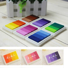DIY Craft Multi Colors Ink Pad Oil Rubber Stamp Paper Wood Fabric Durable