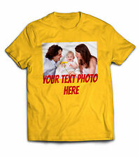 Men Personalized custom funny cool birthday Big own text photo tee shirt jersey