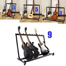 Multiple Guitar Folding Rack Storage Organizer Electric Acoustic Stand Holder AL