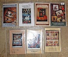 7 NEW FALL/HALLOWEEN QUILTING PATTERNS~HAUNTED HOUSE~SCARECROW~SAMPLER~CHOICE
