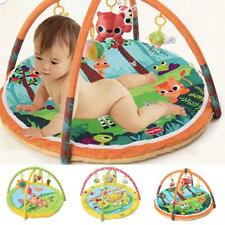 Baby Large Cotton Playmat Tummy Time Activity Gym Floor Mat with Toys