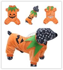 Pet Dog Cat Halloween Pumpkin Holiday Clothes Puppy Costume Party Cosplay Gift