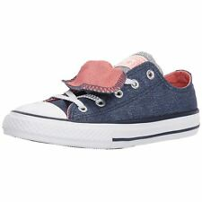 Converse CT All Star Double Tongue Ox Midnight Navy Sunblush Youth Trainers