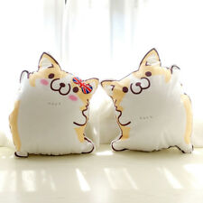 Cute Corgi Dog Plush Throw Pillow Back Cushion Waist Pillow Corgi Doll Toy
