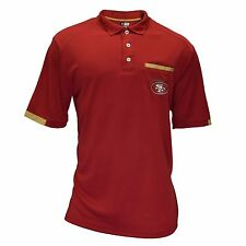 Authentic NFL San Francisco 49ers Red TX3 Cool with Logo Pocket Polo Shirt