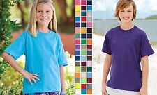 Fruit of the Loom Youth Unisex Short Sleeve T-Shirt.3930B 3930BR 3930-52 COLORS