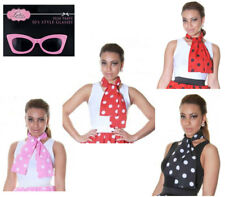 Sexy Womens Girls Multi Colours Polka Dot Scarf Hen Do Party Fancy 50s Glasses