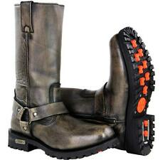 Xelement X99005 Performance Throttle Distress Brown Leather Motorcycle Boots