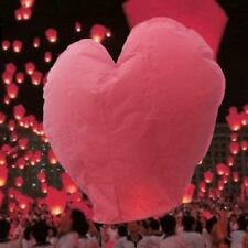 10pcs Heart Shape Chinese Paper Lanterns Sky Fire Lamp for Wedding Party Wish