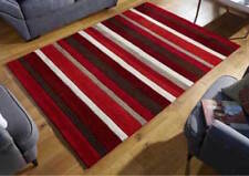 NEW Wool RUG  Modern Contemporary Design RED STRIPES  SIZE S -M - LARGE ON SALE