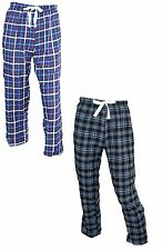 OCTAVE Mens 2 Pack Checked Tartan Flannel Woven Lounge Pants Pyjama Bottoms