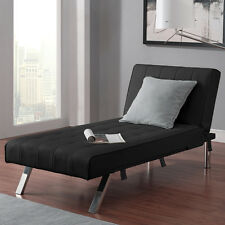 Faux Leather Upholstered Chaise Lounge Home Living Room Furniture Seating Den