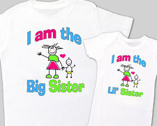 """""""BIG SISTER, Little' SISTER"""" Sibling Shirt WHITE, Tees sold separately MIN 2"""