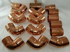 """(Lot Of 16) 2"""" Copper Fittings - Copper Tees -Elbows - Couplings - Adapters"""