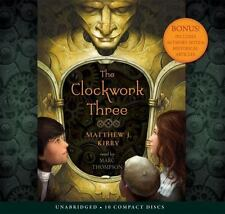 The Clockwork Three by Matthew J. Kirby NEW Audio Book 10 unabridged CDs in CASE