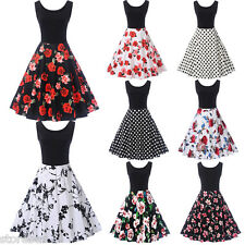 Women 1950s Retro Rockabilly Vintage Style Full Circle Evening Party Swing Dress