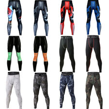 Men's Athletic Apparel Long Legging Compression Workout Running Tight fit Pants