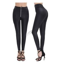 Women High Waist Skinny Legging Faux Leather Stretchy Pants Jegging Pencil Pants