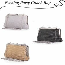 Women Ladies Rhinestone Evening Party Clutch Messenger Chain Handbag Wedding Bag