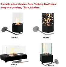 HM Ventless Tabletop Fireplace Cubic Bio Ethanol Modern clean indoor outdoor use