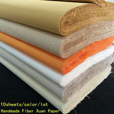 10pcs Chinese Rice Paper Long Fiber Xuan Paper Calligraphy Painting Handmade QW