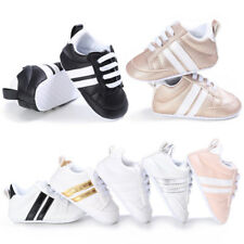 Cute Unisex Kids Newborn Baby Crib Shoes Infant Toddler Soft Sole Lace Up Shoes