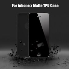 For iPhone X Soft PC Silicone Thin Rubber Full Protective Matte Cover Case Skin