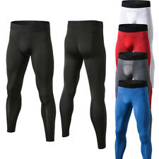 Men's Athletic Compression Pants Basketball Gym Running Training Long Tight fit