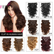 Remy Clip In Body Wave Human Hair Double Weft Full Head Clip In Hair Extensions