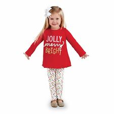 Mud Pie Girls Christmas Jolly Holiday Tunic Legging Set 4T or 5T NWT