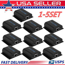 LOT HDMI Extender Over Single Cat6 200FT IR Repeater CAT5e/6 Receiver 1080P BP