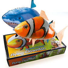 Air Swimmers Remote Control Flying Shark/Fish Inflatable Balloon Free Shipping