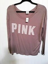 Victorias Secret Pink Graphic Logo  Slouchy Scoop Neck T-Shirt