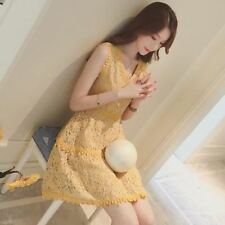 New Fashion Summer V-neck Floral Casual Sleeveless Dress For Women