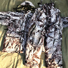 Winter Bionic Snow Camouflage Thicken Thermal Waterproof Hunt Ghillie Suit Set