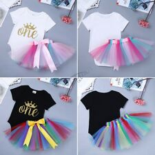 Baby Toddler Girl Tutu Skirt Romper Birthday Outfit Dress Infant Newborn Clothes
