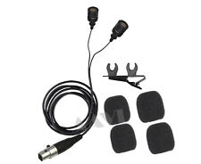 Pro Dual Lavalier Lapel Microphone for Sure Wireless Mic Bodypack Transmitters