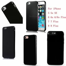Silicone Soft Gel/TPU Rubber Cute Black Case Cover For iPhone 5 5S 6 6S 7 8 Plus