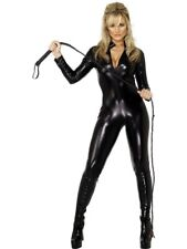 Adult Sexy Whiplash Catsuit Ladies Halloween Fancy Dress Costume Party Outfit