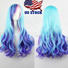 Ladies Lolita Long Wavy Curly Full Wig Multi-Color Fancy Cosplay Party Hair Wig