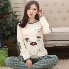 Women Pajamas Sets Home Clothes Cartoon Cotton Nightwear Sleepwear Pajamas New