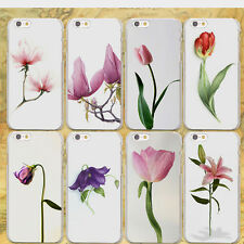 Cute Plants Peony Flowers Hard Plastic Case For iPhone