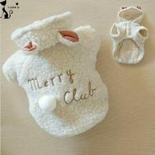 Pet Costume Small Dog Clothes Coat White Sheep Puppy Hoodie Chihuahua Clothing