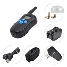 Rechargeable E-Collar Remote Pet Dog Shock Training Collar Plug US New A