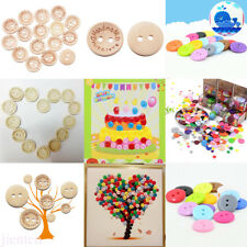 100Pcs Resin Button Wooden Heart Handmad Button Clothes Sewing Scrapbook Craft