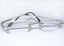 NES CLEAR READING GLASSES READERS MADE WITH SWAROVSKI CRYSTAL STONES