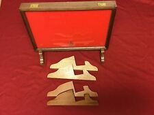 "Oak, Cherry, or Walnut Wood Display Stands made for 3"" Thick Cases"