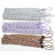 1 Pair Polyester Rope Window Curtain Knitted Rope Tiebacks Braided Tie Backs Hot