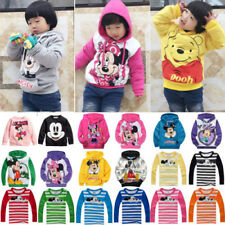 Kids Boys Girls Mickey Minnie Jumper T Shirts Tops Hoodies Pullover Sweatshirt